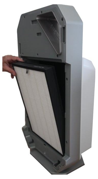 De filters voor de ZX 8000 zijn gemakkelijk te vervangen.